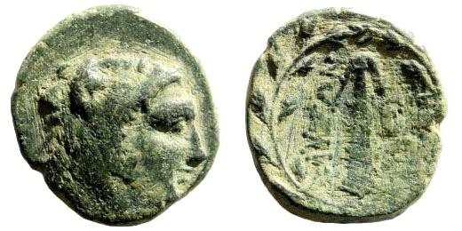 Ancient Coins - Phrygia, Abbaitis. Ankyra. 2nd century BC. AE 16mm (3.13 gm). BMC 8. Rare
