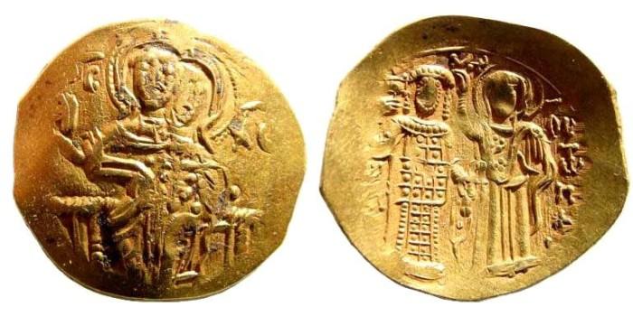Ancient Coins - Nicaean Empire. John III, 1222-1254 AD. AV Hyperpyron (4.33 gm, 26mm). Magnesia mint. SB 2073