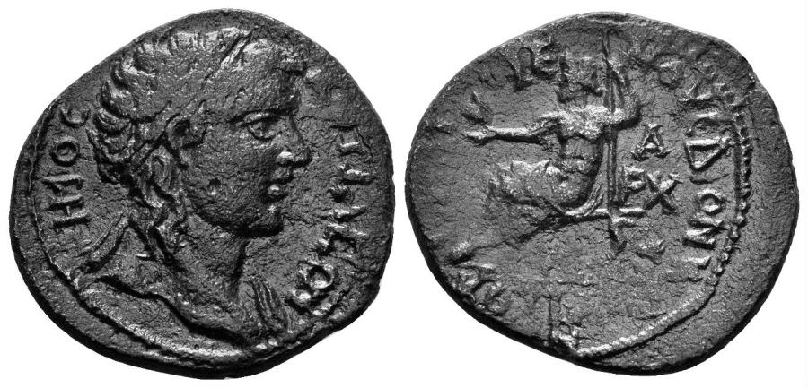 Ancient Coins - Phrygia, Kotiaion. Time of Valerian and Gallienus. 253-268 AD. AE 24mm (6.56 gm). Diogenes Dionysos, magistrate. SNG München 317