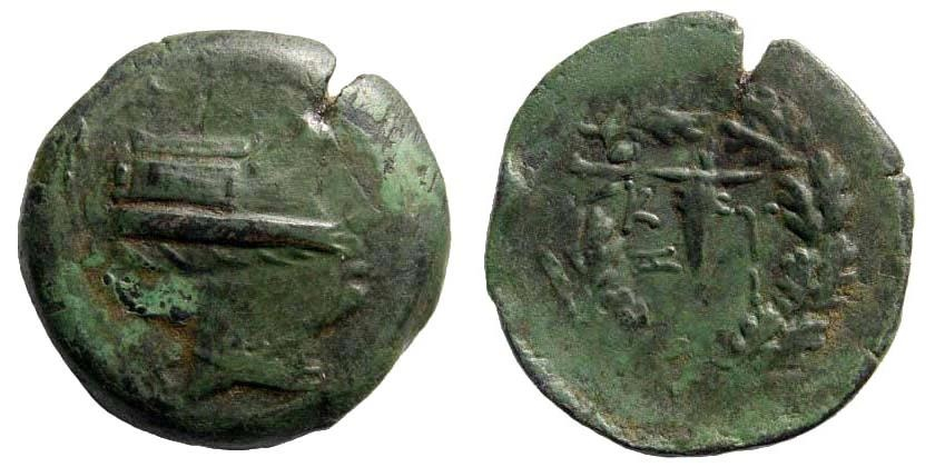 Ancient Coins - Mysia, Kyzikos. 3rd century BC. AE 29mm (13.30 gm). Von Fritze III 11; SNG France 438. Overstruck