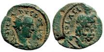 Ancient Coins - Judaea, Aelia Capitolina (Jerusalem). Herennius Etruscus, as Caesar, 249-251 AD. AE 18mm (5.73 gm). Meshorer, Aelia 167