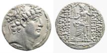 Ancient Coins - Seleukid Kingdom. Philip I Philadelphos. Circa 95/4-76/5 BC. AR Tetradrachm (15.34 gm, 25mm). Antioch mint. Struck circa 88/7-76/5 BC. SC 2463