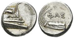 Ancient Coins - Lykia, Phaselis. 4th century BC. AR Stater (10.37 gm, 20.5mm). Tamer Series 6