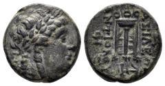 Ancient Coins - Seleukid Kingdom. Antiochos II Theos. 261-246 BC. AE 16mm (4.41 gm). Sardeis mint. SC 523