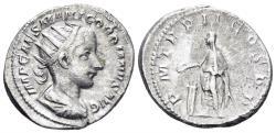 Ancient Coins - Gordian III. 238-244 AD. AR Antoninianus (4.87 gm, 22.5mm). Rome mint. RIC IV 37; RSC 210