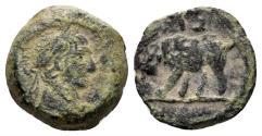 Ancient Coins - Egypt, Alexandria. Trajan. 98-117 AD. AE Dichalkon (1.68 gm, 13mm). Dated RY 17 (113/4 AD). Emmett 719 var