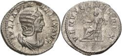 Ancient Coins - Julia Domna. Augusta, 193-217 AD. AR Antoninianus (5.40 gm, 23mm). Struck 215-217 AD. RIC IV 388a (Caracalla)