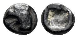 Ancient Coins - Ionia, Phokaia or Teos. Circa.450-425 BC, AR Hemiobol (0.40 gm, 6mm). BMC -. Rosen -. SNG Kayhan -. Rare