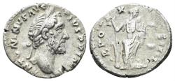 Ancient Coins - Antoninus Pius. 138-161 AD. AR Denarius (2.75 gm, 17mm). Rome mint. Struck 157-158 AD. RIC III 275