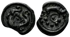 Ancient Coins - Celtic, Northeast Gaul. Suessiones. Circa 60/50-30/25 BC. Potin 18mm (2.86 gm). Depeyrot, NC 123