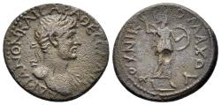 Ancient Coins - Thessaly, Thessalian League. Hadrian. 117-138 AD. AE Assarion (4.62 gm, 20mm). Ulpius Nikomachos, strategos. BCD Thessaly 952.1