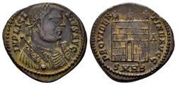 Ancient Coins - Licinius I, 308-324 AD. AE Nummus (4.07 gm, 20mm). Heraclea mint, 318-320 AD. RIC 48 var.