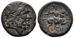 Ancient Coins - Pisidia, Isinda. 1st century BC. AE 20mm (6.34 gm). Dated Era of Amyntas (?) Year 3 (23/2 BC). RPC 3512c