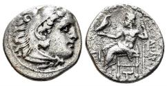 Ancient Coins - Macedonian Kingdom, Alexander III, 336-323 BC. AR Drachm (3.82gm, 18mm). Abydos mint, 328-323 BC. BC. Price 1783