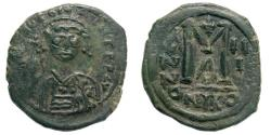 Ancient Coins - Tiberius II Constantine. 578-582. AE Follis (11.71 gm, 29mm). Nicomedia mint. Sear 440