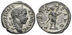 Ancient Coins - Severus Alexander. 222-235 AD. AR Denarius (3.00 gm, 19mm). Rome mint. Struck 228 AD. RIC IV 224