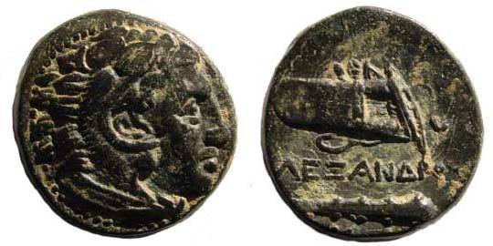 Ancient Coins - Macedonian Kingdom, Alexander III, AE 17