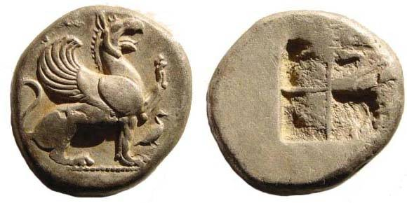 Ancient Coins - Ionia, Teos, AR Stater, c. 440