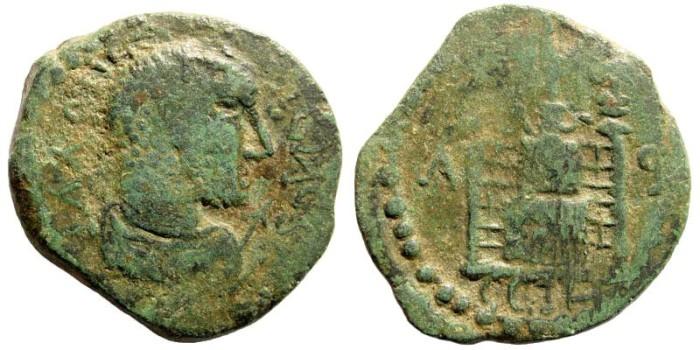Ancient Coins - Mysia, Parium. Gallienus. 253-268 AD. AE 30mm (12.66 gm). SNG France 1537; SNG Copenhagen 307-308 (same obverse die as 308). Architectural Type