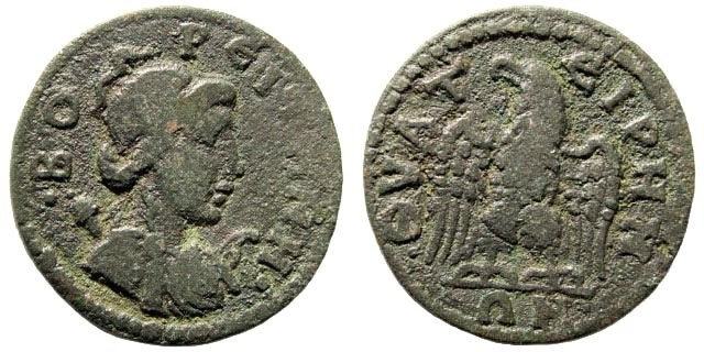 Ancient Coins - Lydia, Thyateira. Time of Severus Alexander, 222-238 AD. AE 22mm (4.45 gm). SNG Copenhagen 591 (same dies)