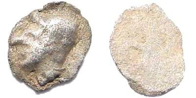 Ancient Coins - Ionia, Phokaia. Circa 500-490 BC. AR (0.11 gm, 6mm). Rosen -; Klein -; SNG Kayan -; SNG Tübingen -; SNG München -