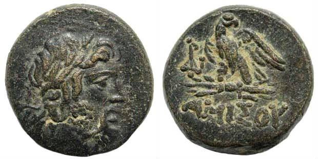 Ancient Coins - Pontus, Amisos. Circa 85-65 BC. AE 20mm (8.20 gm). SNG Stancomb 705; SNG Copenhagen 134