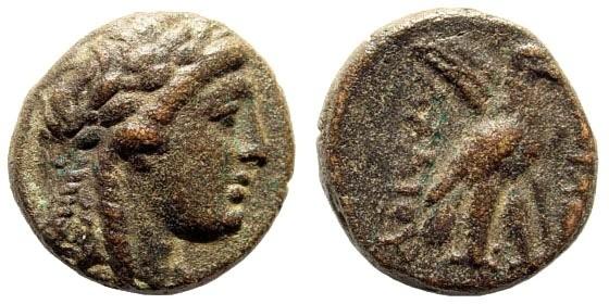 Ancient Coins - Seleucid Kingdom. Achaios, usurper in Asia Minor, 220-214 BC. AE 17mm (5.17 gm). Sardeis mint. Newell, WSM 268, 1441