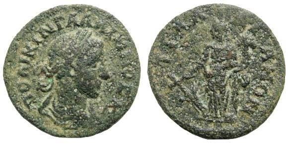 Ancient Coins - Lydia, Tralleis. Gallienus, 253 – 268 AD. as Caesar, 253. AE 21mm (3.76 gm). BMC 361, 201. SNG München 782