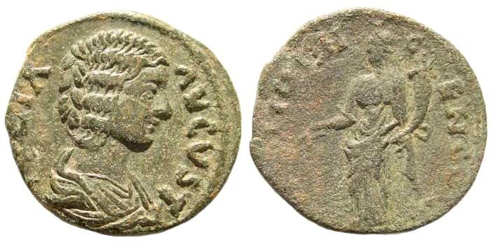 Ancient Coins - Pisidia, Antioch. Julia Domna, wife of Septimius Severus 193-211 AD. AE 22mm (4.81 gm). Ex Karbach collection. SNG BN 1130