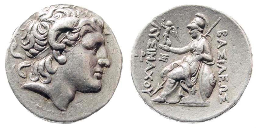 Ancient Coins - Thracian Kingdom. Lysimachos. 305-281 BC. AR Tetradrachm (17.18 gm, 28mm). Herakleia mint. Müller 351