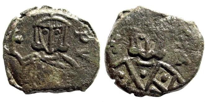 Ancient Coins - Michael I Rhangabé & Theophylactus. 811-813 AD. AE Follis (3.83 gm, 19mm). Syracuse mint. SB 1625