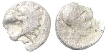 Ancient Coins - Pamphylia, Side. Circa. 400-333 BC. AR Obol (0.64 gm, 9mm). SNG Keckman 671–673; SNG PFPS 353 (here Pisidia, Selge)