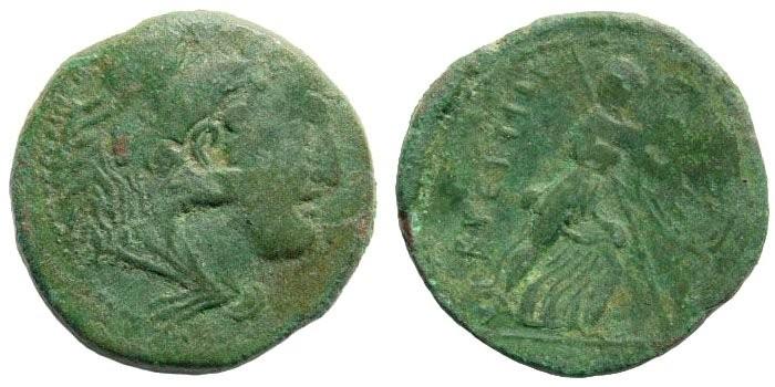 Ancient Coins - Bruttium, The Brettii. Circa 211-208 BC. AE Didrachm or Reduced Sextans (13.87 gm). SNG ANS 129
