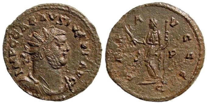 Ancient Coins - Carausius. 286/7-293 AD. AE Antoninianus (4.32 gm. 22mm). Camulodounum mint. RIC 101