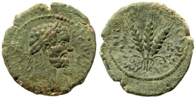 Ancient Coins - Cappadocia, Caesarea. Septimius Severus 193-217 AD. AE 25mm (9.07 gm). Sydenham 413