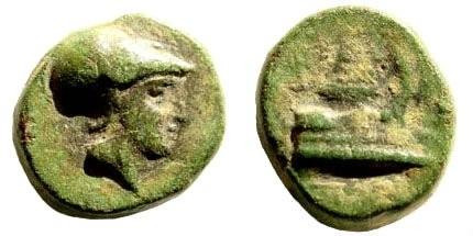 Ancient Coins - Macedonian Kings. Demetrios I Poliorketes, 306-283 BC. AE 1/4 Unit(?) (1.97 gm, 12mm). Asia Minor mint. Struck circa 298-295 BC. SNG Copenhagen 1192