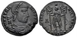 Ancient Coins - Vetranio, 350 AD. AE 24mm (5.00 gm). Siscia mint. RIC VIII 287