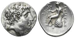 Ancient Coins - Seleukid Kingdom. Antiochos Hierax, 242-227 BC. AR Drachm (4.25 gm, 18mm). Uncertain mint in Western Asia Minor. Unpublished