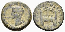 Ancient Coins - Lusitania, Emerita, Tiberius. 14-37 AD. AE As (10.88 gm, 26mm). RPC I 42