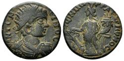 Ancient Coins - Phrygia, Peltai. Caracalla. 197-217 AD. AE 20mm (6.27 gm). Strategos Tat. Arionos. SNG von Aulock 8434