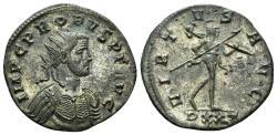 Ancient Coins - Probus, 276-282 AD. AE Silvered Antoninianus (3.88 gm, 22.5mm). Ticinum mint. RIC 428
