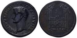 """World Coins - 19th Century or earlier AE Cast """"Sestertius"""" (24.53 gm, 34mm). """"Paduan"""" medal. Tiberius"""