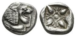Ancient Coins - Ionia, Miletos. Late 6th- early 4th century BC. 1/12th Stater (1.25 gm, 10mm). SNG Helsinki II 285