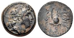 Ancient Coins - Seleukid Kingdom. Tryphon. Circa 142-138 BC. AE 18mm (5.00 gm). SNG Spear 1838