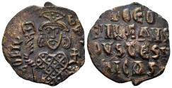 Ancient Coins - Theophilus, 826-842 AD. AE Follis (4.43 gm, 27mm). Constantinople mint. Struck 830/1-842 AD. SB 1667