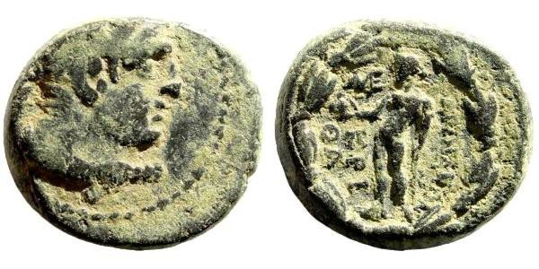 Ancient Coins - Lydia, Sardeis. Circa 2nd - 1st Century BC. AE 15mm (5.01 gm). Kretha magistrate. SNG Copenhagen -; BMC -; SNG München -; SNG Tübingen -