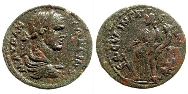 Ancient Coins - Ionia, Ephesos. Caracalla, 198-217 AD. AE 23mm (6.33 gm). BMC 273