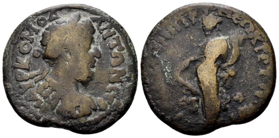 Ancient Coins - Pontos, Amaseia. Commodus, 177-192. AE Pentassarion (16.19 gm, 31mm). Datd CY 190 (190/1 AD). RPC IV.3 online 5313