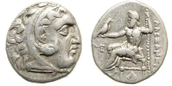 Ancient Coins - Macedonian Kingdom, Alexander III, 336-323 BC, AR Drachm (4.21 gm, 18mm). Abydos, 310-301 BC. Price 1560