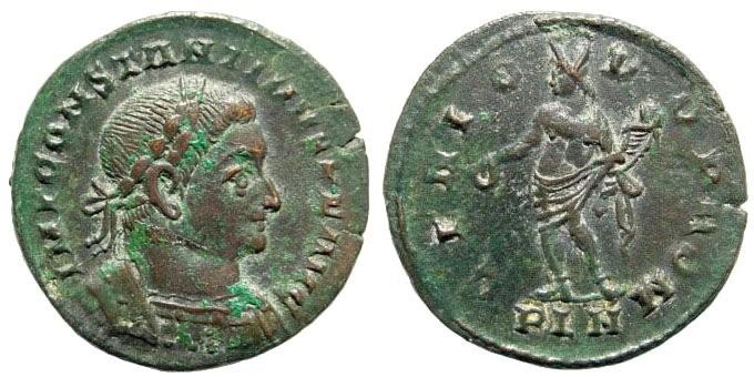 Ancient Coins - Constantine I. 306-337 AD. AE Follis (5.99 gm, 25mm). London mint 307-310 AD. RIC VI 103